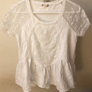 Altar'd State White embroidered top